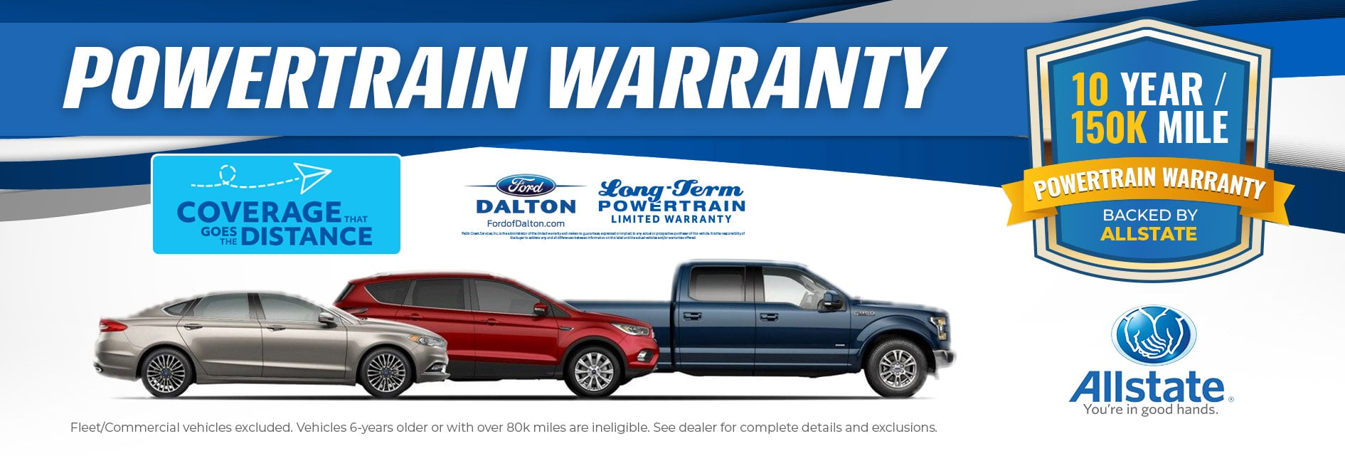 Powertrain Warranty Coverage >> 10 Year 150 000 Mile Warranty Backed By Allstate